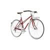 Creme Echo Mixte LTD Bicicletta da città Donna rosso